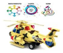 Helicóptero Bate E Volta Som E Luzes Brinquedo Divertido comm segurança - Emporio Magazine