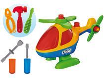 Helicóptero de Brinquedo Mãos à Obra - Monta e Desmonta com Acessórios Usual Brinquedos