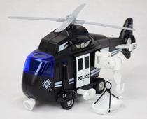 Helicóptero de Resgate Policia e Bombeiro Mega City Sonoro de Brinquedo Infantil BBR TOYS -