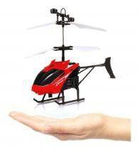 Helicoptero drone c/sensor de aproximacao recarregavel usb + luz colors - Ark Toys