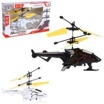Helicoptero drone comanche c/sensor de aproximacao recarregavel usb + luz colors wb7875 wellmix - Well Kids