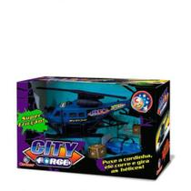 Helicóptero Friccao City Force Cardoso azul/preto -