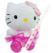 Hello Kitty Boneca de Pelúcia Bailarina Sanrio + Escova -