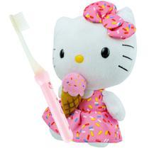 Hello Kitty Boneca De Pelúcia Com Sorvete Sanrio Mais Escova -