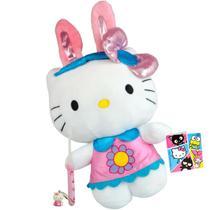 Hello Kitty Coelhinha Boneca De Pelúcia Sanrio Dtc Mais Escova -