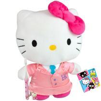 Hello Kitty Colegial Boneca De Pelúcia Sanrio Dtc Mais Escova -