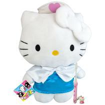 Hello Kitty Enfermeira Boneca De Pelúcia Sanrio Dtc Mais Escova -