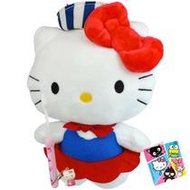 Hello Kitty Marinheira Boneca de Pelúcia Sanrio Dtc Mais Escova -