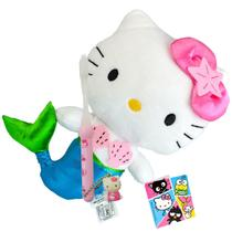 Hello Kitty Sereia Boneca de Pelúcia Sanrio Dtc Mais Escova -