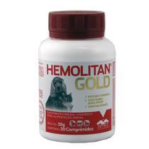 Hemolitan Gold 30 comprimidos Vetnil Suplemento Cães Gatos -