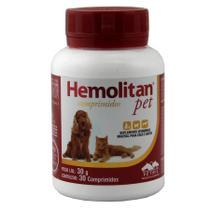 Hemolitan Pet 30 comp. Suplemento Cães e Gatos - Vetnil -