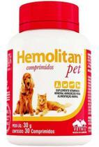 Hemolitan Pet 30 Comprimidos Vetnil - Agropet Nutrimed
