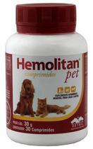 Hemolitan Pet 30 Comprimidos Vetnil Suplemento Cães E Gatos -