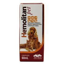 Hemolitan Pet Suplemento Cães E Gatos 60ml - Vetnil -