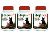 Hepvet 30 Comprimidos - Vetnil - 3 Unidades -