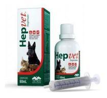 Hepvet Suspensão Suplemento Cães E Gatos  60 Ml - Vetnil -