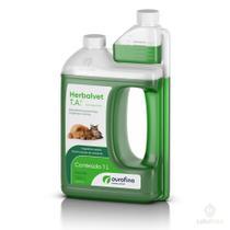 Herbalvet T.A  Desinfetante Bactericida Litro - Ouro Fino -