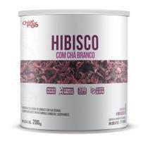 Hibisco com Chá Branco Instantâneo Zero Açúcar 200g ClinicMais - Chámais