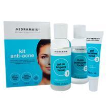 Hidramais Anti-Acne Kit - Gel de Limpeza + Fluido + Gel Secativo -