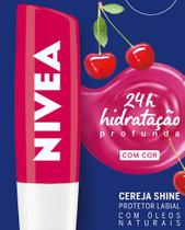 Hidratante Labial Cereja Shine 24h 4,8g - Nivea -