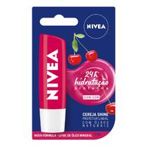 Hidratante labial com cor cereja shine nivea 4,8g -