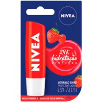 Hidratante Labial Morango Shine 24h 4,8g - Nivea -