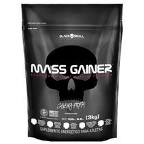 Hipercalórico mass gainer - 3kg - refil - Caveira Preta