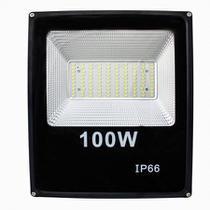 Holofote Refletor Led 100w Branco Frio 6500k Bivolt - Powerxl