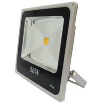 Holofote Refletor Led 50w Branco Quente 3000k Bivolt - Powerxl
