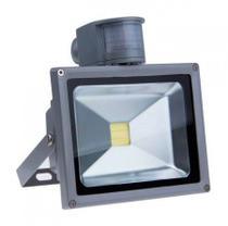 Holofote Refletor LED 50w com Sensor de Movimento e Presença, Bivolt, a Prova dágua - Branco Frio - Powerxl