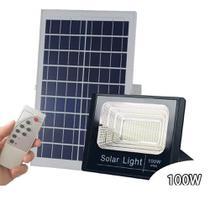 Holofote Refletor Solar 100W Prova D'àgua Painel automático e manual GT513 - Lorben -