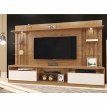 Home Amsterdã com LED Prateleira de Vidro Tv até 65 polegadas Mavaular Damasco Soft Off White Cestaplus -
