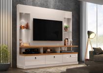 "Home Dinamarca Lukaliam Luzes de LED Rodízios TV de até 55"" Off White/Amêndoa -"