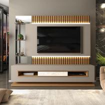 Home Moderno para TV até 60 Polegadas Ripado com LED 100% MDF Lumus - Dj Móveis