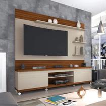 Home painel e estante para TV até 70 polegadas Cedro - Moveis Prolar