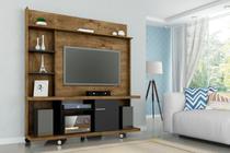 Home para TV Avaí Madeira Rústica Preto Fosco - Bechara