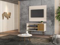 Home para TV Gouveia e Mesa de Centro Off White Cinamomo - Bechara