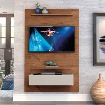 """Home Suspenso Exclusive 120cm P/TV até 49"""" Natural/Off White - Zanzini -"""