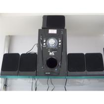 Home theater 5.1 subwoofer usb sd bivolt som fm controle 30w - Represent