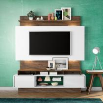 Home Theater com Painel para TV 180cm 2 Portas Correr Luzes LED TB112L Dalla Costa -