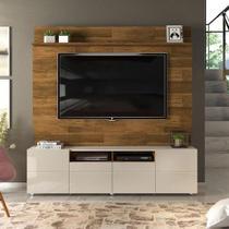 Home Theater para TV até 70 Pol Quadrus Demolição Off White - DJ Móveis -
