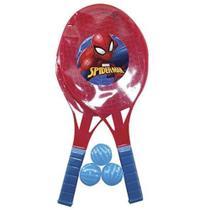 Homem Aranha kit com 2  Raquetes com 3 Bolinhas - Camp -