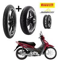 Honda Biz 125 Todas Pneu Dianteiro Traseiro Pirelli -