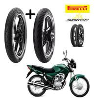 Honda Cg 125 Titan / Fan 125 Pneu Dianteiro Traseiro Pirelli -
