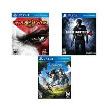 Horizon: Zero Dawn + Uncharted + God of War 3 - PS4 no encarte - Sony