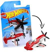 HOT WHEELS Avião Mad Propz Vermelho e Branco MATTEL GRX84 -