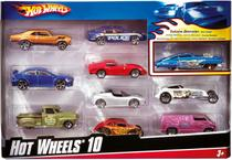 Hot Wheels C/10 Carrinhos SORT - Mattel