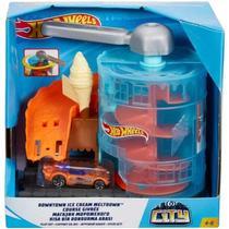 Hot Wheels City Pista Kit Loja de Sorvete Mattel -
