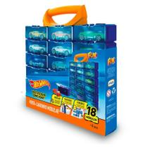 Hot Wheels Porta Carrinhos Modular 18 Divisões - Fun Toys