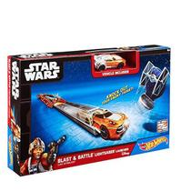 Hot Wheels STAR WARS CAR Launchera Luke Skywlaker Mattel CMM32/CMM33